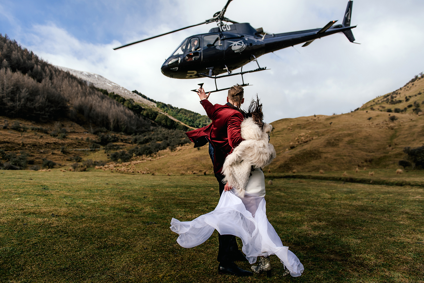 New Zealand Helicopter Elopement Melbourne Wedding Photographer Lucy Spartalis